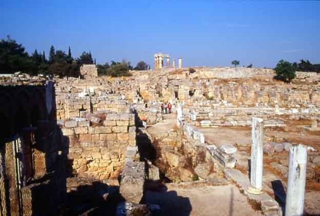 les ruines de Corinthe